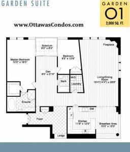 700 Sussex - Garden Suite Floor Plan